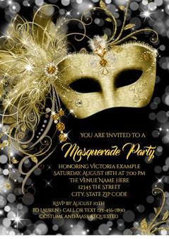 Masquerade Quinceanera Invitation QS-IN33 set of 50