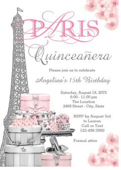 Quinceanera Invitation QSI-IN19 set of 50