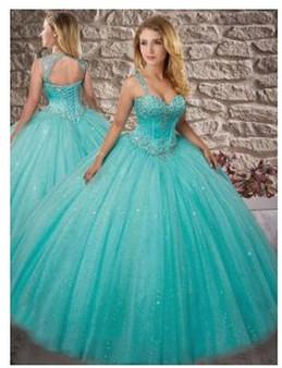 Aqua Quinceanera Dress  QSXFQD1540