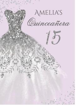 Quinceanera Invitation QS-IN12, set of 50
