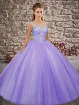 Beaded Lilac Quinceanera Dress