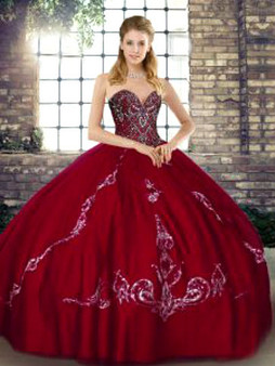 Wine Quinceanera Dress QSJQDDT2128002-4