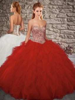 Sweetheart Red Quinceanera Dress