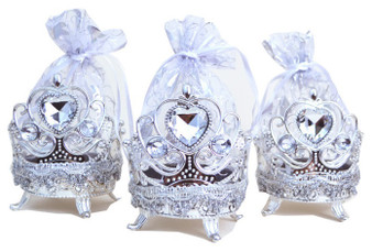 "4"" Silver Round Organza Bag Favor - Pack of 12 ( $ 1.99 each)"
