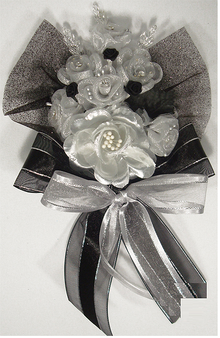Black and White Quinceanera  Hand Corsage, available in many colors