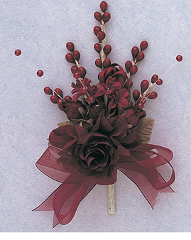 "7"" Burgundy Quinceanera Corsage Silk Spray Flowers - Pack of 12,  available in many colors"