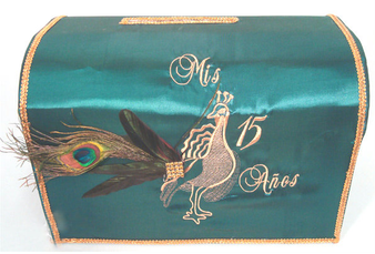 Peacock Quinceanera  Money Box, available in any colors