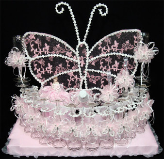 Butterfly Quinceanera Toasting Set, available in all colors