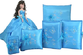 Butterfly Quinceanera  Set 6 items,  available in all colors