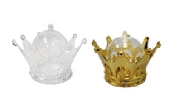"""3.25"""" Plastic Crown Favor Box (12)"""