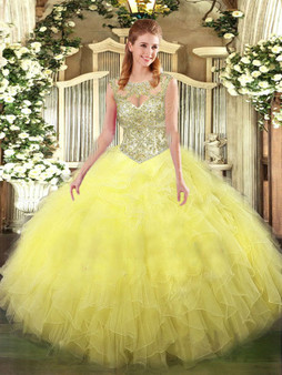 Yellow Quinceanera Dress  QSJQDDT995002-3