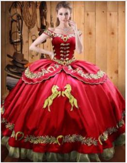 Charro Quinceanera Dress QXBQD157-6