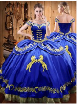 Royal Blue Quinceanera Dress QXBQD157