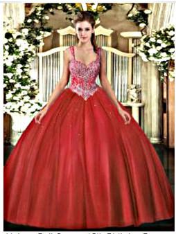Coral Quinceanera Dress QSJQDDT130002-2