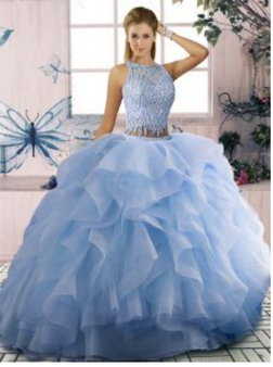 Blue Quinceanera Dress  QS1XYYWL04085-4