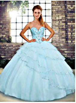 Blue Quinceanera Dress    QSJQDDT2120002-6