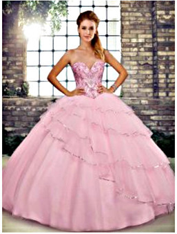 Baby Pink Quinceanera Dress QSJQDDT2120002-12