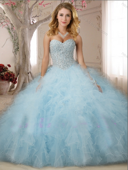 Blue Quinceanera Dress  QSXFQD1144-1