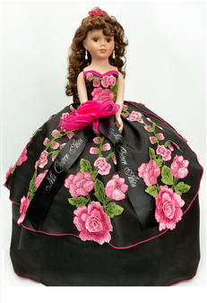 Charra Quinceanera Doll, 21 inches AK-341