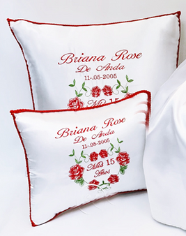 Charra Quinceanera Pillows Set , Two Pillows