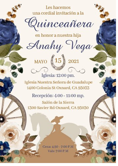 Charra Quinceanera Invitation QS-IN1 set of 50