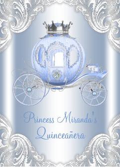 Carriage Quinceanera Invitation QS-IN8 set of 50