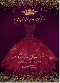 Quinceanera Invitation QS-IN6 set of  50
