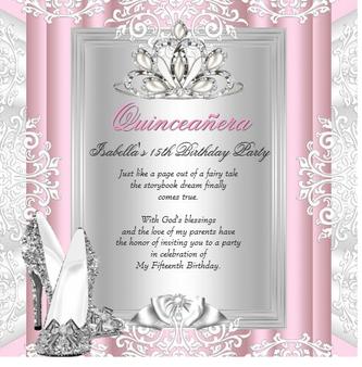 Tiara Quinceanera Invitation QS-IN2 set of 50