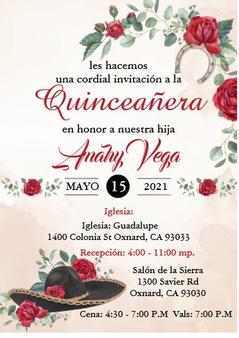 Charra Quinceanera Invitation QS-IN52 set of 50