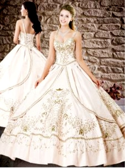 Embroidered Charro Quinceanera Dress