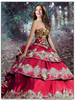 Red Charro Quinceanera Dress QSXBQD081PRT-1