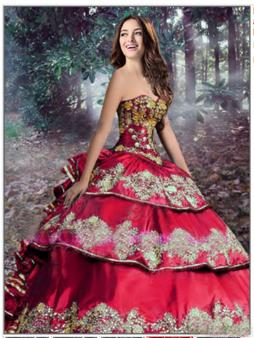 Red Charro Quinceanera Dress
