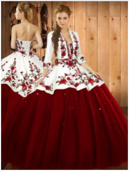 Floral Charro with Jacket Quinceanera Dress