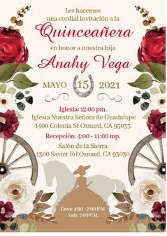 Charra Quinceanera Invitations QS-IN50  set of 50