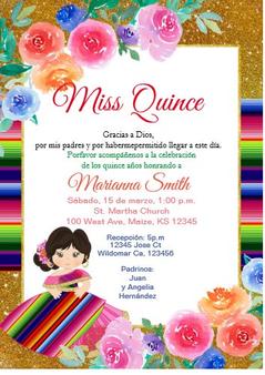 Charra Quinceanera Invitation QS-IN49 set of 50