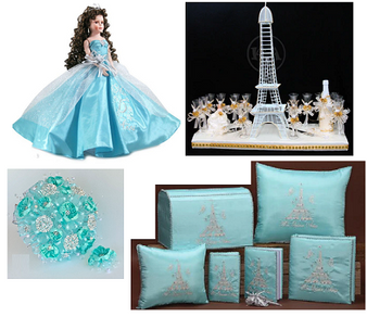 Paris Quinceanera Package, available in every color