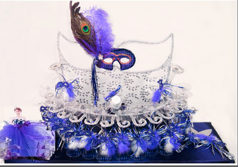 Quinceanera Masquerade Toasting Glasses Set
