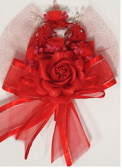 Red Quinceanera Corsage, available in many colors