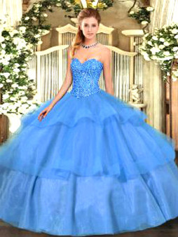 Blue Quinceanera Dress  QSJQDDT1504002-1