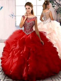 Red Quinceanera Dress QSJQDDT2069002