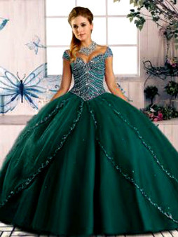 Green Quinceanera Dress QSJQDDT2075002-3