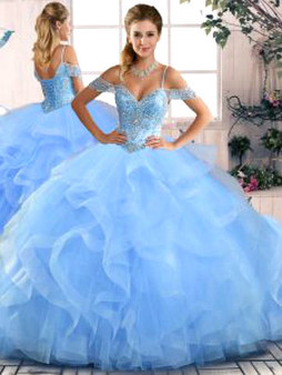 Blue Quinceanera Dress QSJQDDT2072002