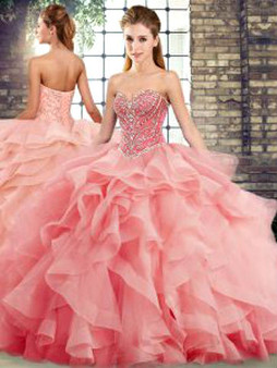 Watermelon Quinceanera Dress  QSJQDDT2123002