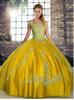 Gold Quinceanera Dress QSJQDDT2103002-2