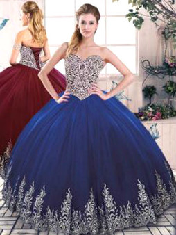 Blue Quinceanera Dress QSJQDDT2078002