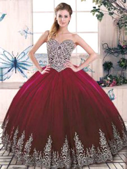 Burgundy Quinceanera Dress QSJQDDT2078002-4
