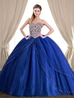 Royal Blue Quinceanera Dress QSJQDDT857002-1