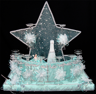 Aqua Quinceanera Toasting Set, any color