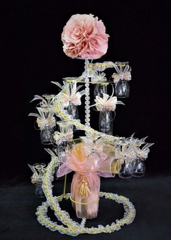 Roses Quinceanera Toasting Glasses Set, available in all colors