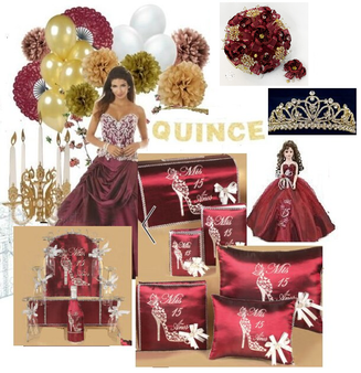 Wine Quinceanera Package QS-UP-BG
